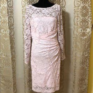 Lauren Ralph Lauren pink lace dress with sequins